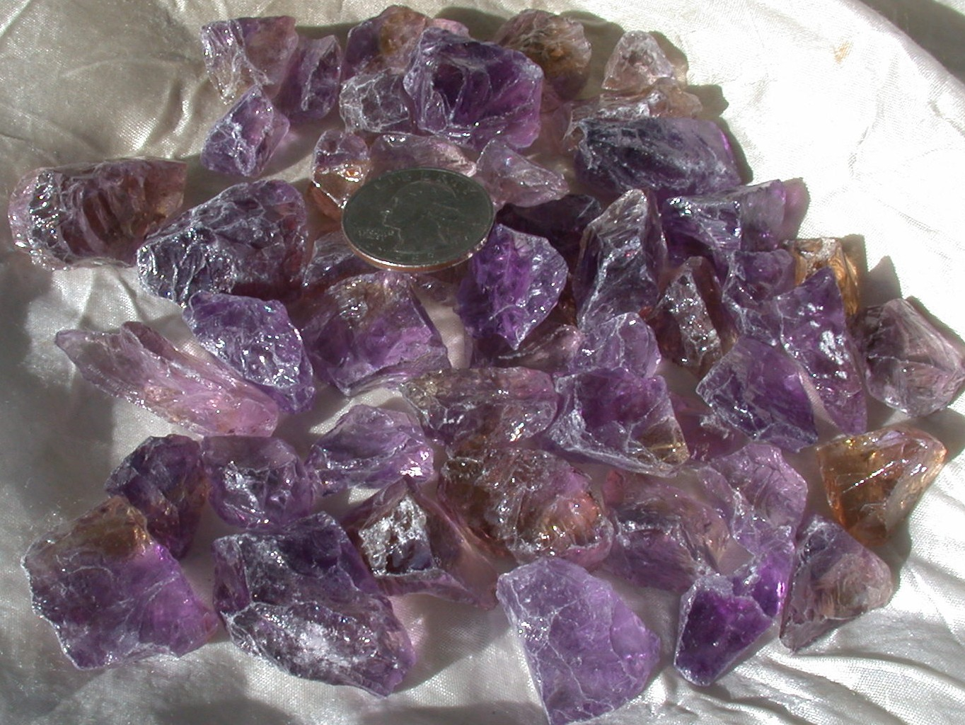 Rough Ametrine Gemstone
