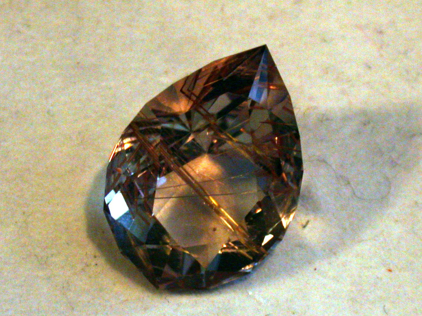 Pare design Rutilated Gemstone Faceted
