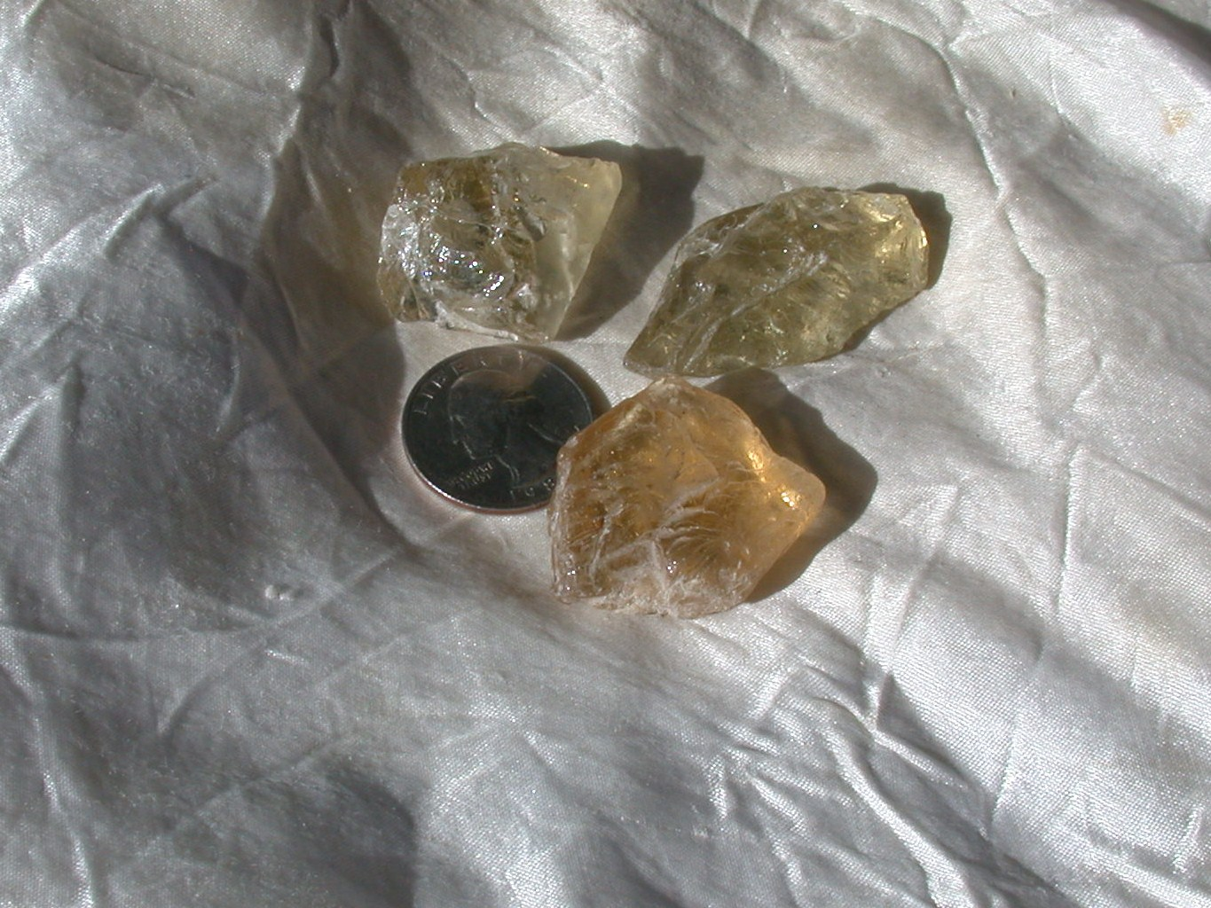 Rough Beryl Golden from Pakistan in crystal point form