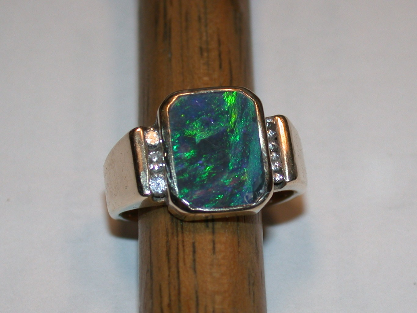 inlaid black opal