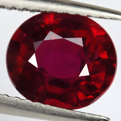 oval design Ruby Gemstone Faceted