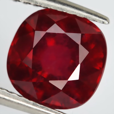 cushion square design Ruby Gemstone Faceted