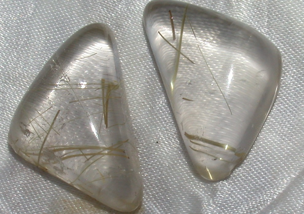 Cabochon Rutilated Quartz cut gems